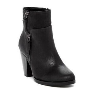 Vince Camuto Black Leather High Heeled Booties